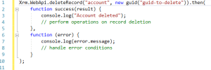 delete record from CRM