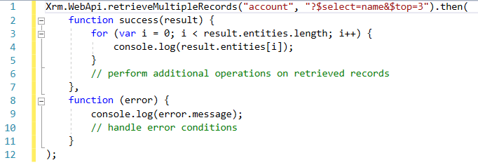 syntax to retrieve multiple records