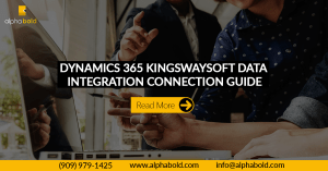 kingswaysoft dynamics 365 data integration guide