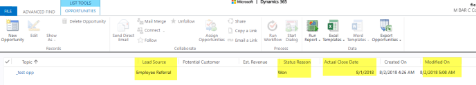 modified field on dynamics crm 365