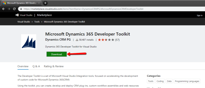 Microsoft Dynamics 365 Developer Toolkit