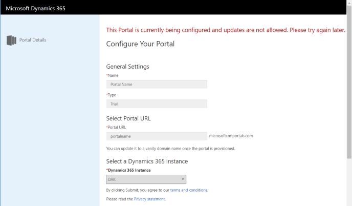 configure your portal