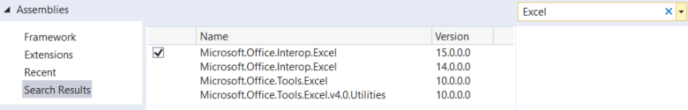 • Microsoft.Office.Interop.Excel