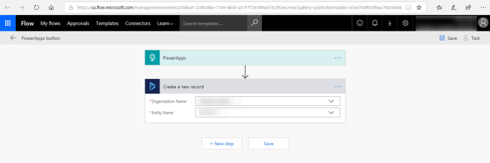 PowerApps using Microsoft Flow to Create Dynamics 365