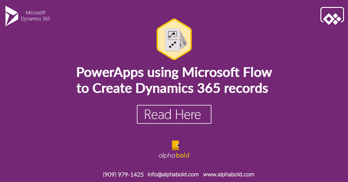 PowerApps using Microsoft Flow