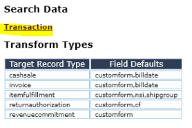 Sales Order search data