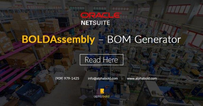 NetSuite BOM Generator