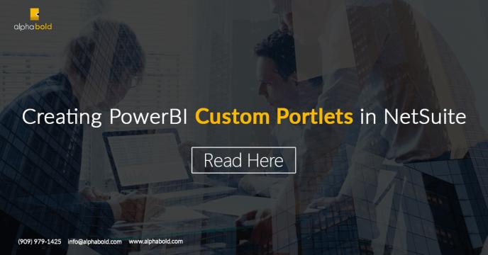 PowerBI Custom Portlets in NetSuite