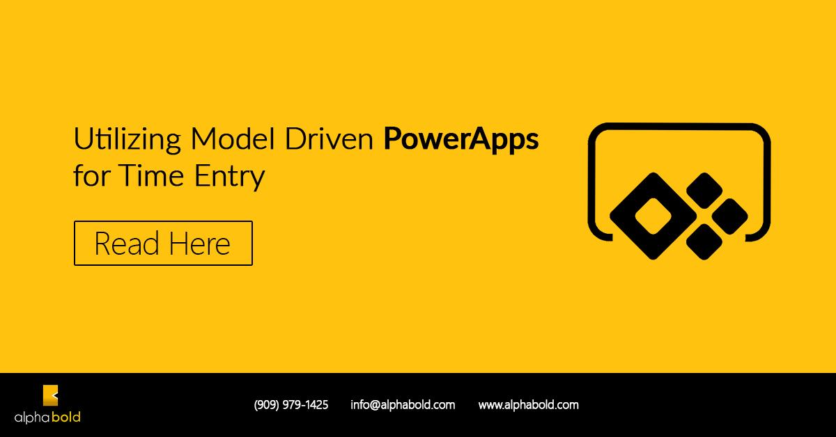 model driven powerapps