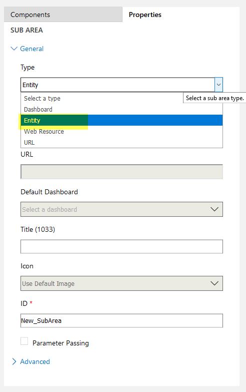 selecting Entity