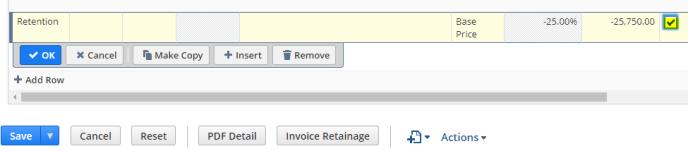 Retainage Invoiced 2