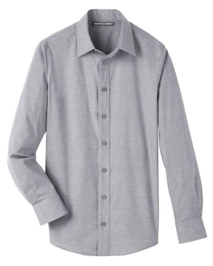 Devon & Jones Men's Crown Collection™ Stretch Pinpoint Chambray Shirt