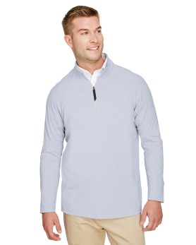Devon & Jones CrownLux Performance™ Men's Clubhouse Micro-Stripe Quarter-Zip Promotional Apparel