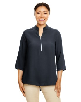 Devon & Jones Ladies' Perfect Fit™ 3/4-Sleeve Crepe Tunic Promotional Apparel