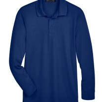 Devon & Jones CrownLux Performance™ Men's Tall Plaited Long Sleeve Polo