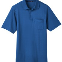 Devon & Jones Men's CrownLux Performance™ Plaited Polo with Pocket (DG20P)