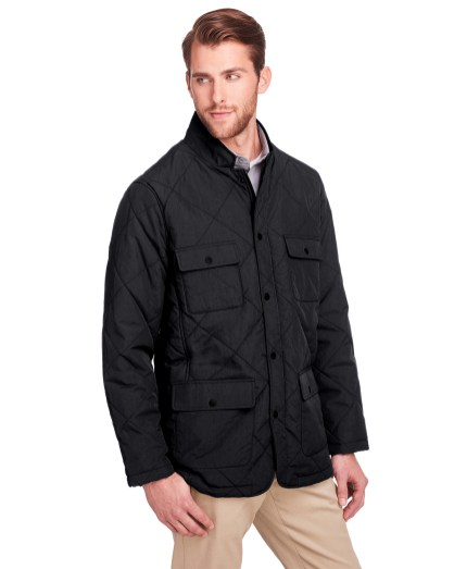 UltraClub® Men's Dawson Quilted Hacking Jacket
