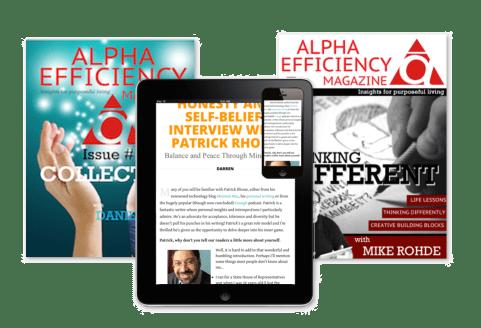 Screenshots of Alpha Efficiency Magazine