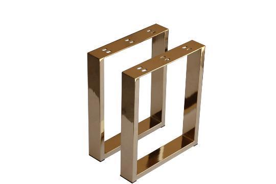 16 modern brass u shape furniture legs coffee table legs metal legs 2pc 161305sg