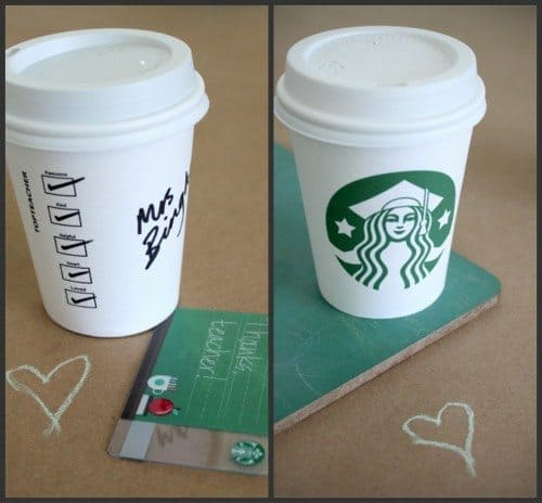 Card Cup Holder Diy Gift Coffee