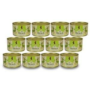 hirsch-400g-12er-sparpaket-getreidefreies-purinarmes-glutenfreies-hundefutter-dose-muskelfleisch-pastinake-kuerbis-cranberries-birne-hagebutte-aronia-alpha-natural