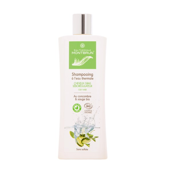 Shampooing traitant bio cheveux gras - Eau Thermale Montbrun