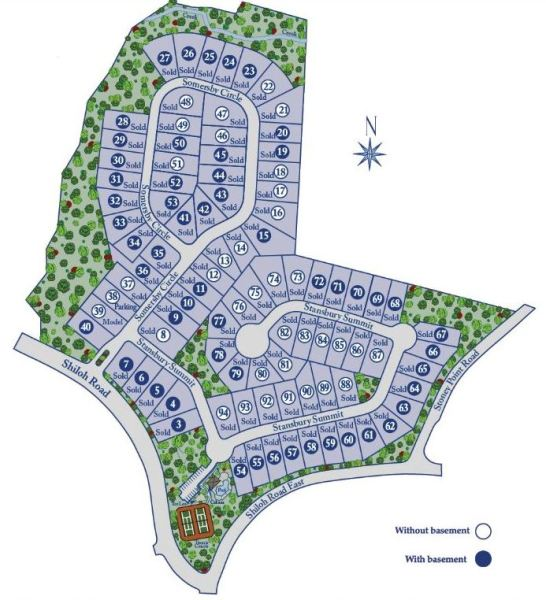 Summit At Shiloh Alpharetta Site Map