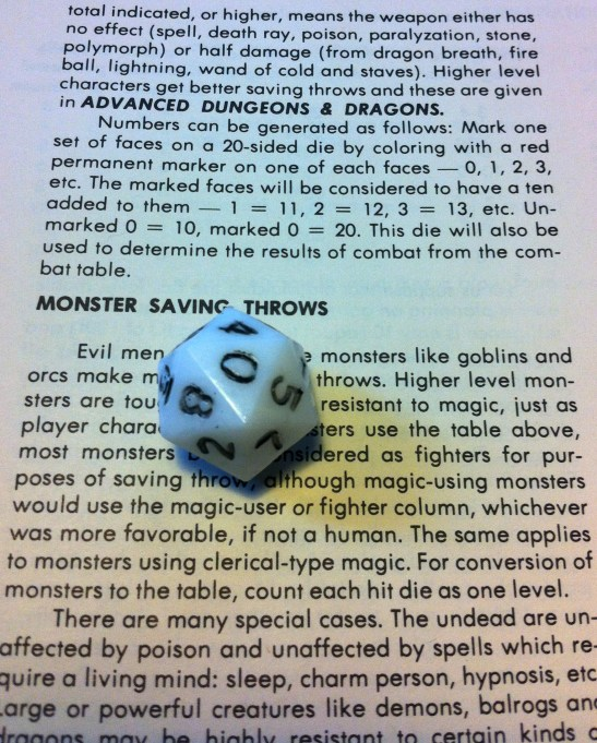 The previous owner didn't follow the instructions for the special d10 (no true d20!)