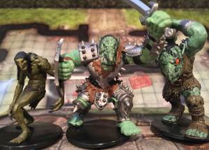 RoD (left), War Troll from Legendary Evils, Skalmad Troll King from Dangerous Delves (right).