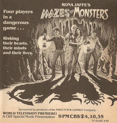 Mazes and Monsters movie advertisement, with Tom Hanks