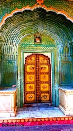 A beautiful door inside City Palace