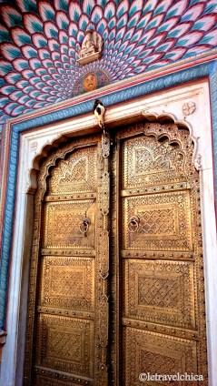 Psychedelic door - City Palace