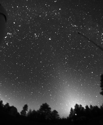 Zodiacal light from NOFS, 2015-02-11 (click to enlarge)