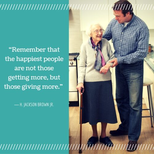 """Remember that the happiest people are not those getting more, but those giving more."""