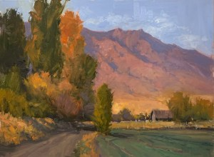 Wellsville oil painting, Mountain Scene, Country Road