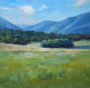 original oil on board, landscape painting