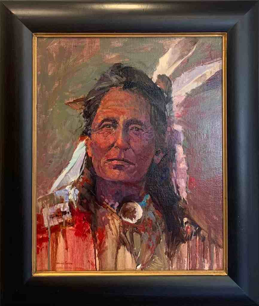 Oil on Linen Native American Chief