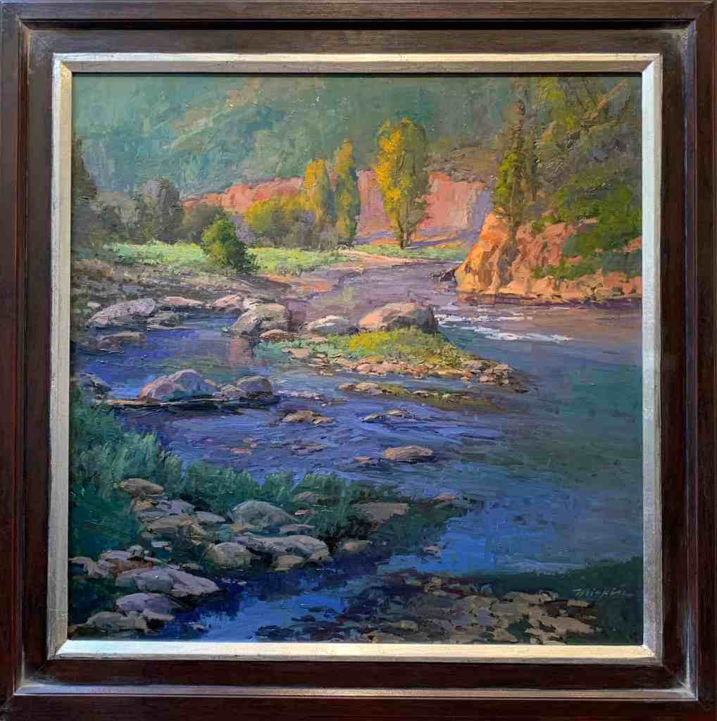 Oil on Linen Landscape Painting River