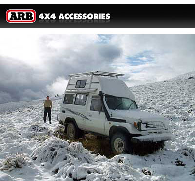 S70 Land Cruiser ~ ARB suspension/lock diffs. Nevis Valley Xmas day '08