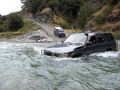 ARB equipped Surf in the Shotover River