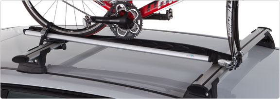 Fork mount rack for bikes