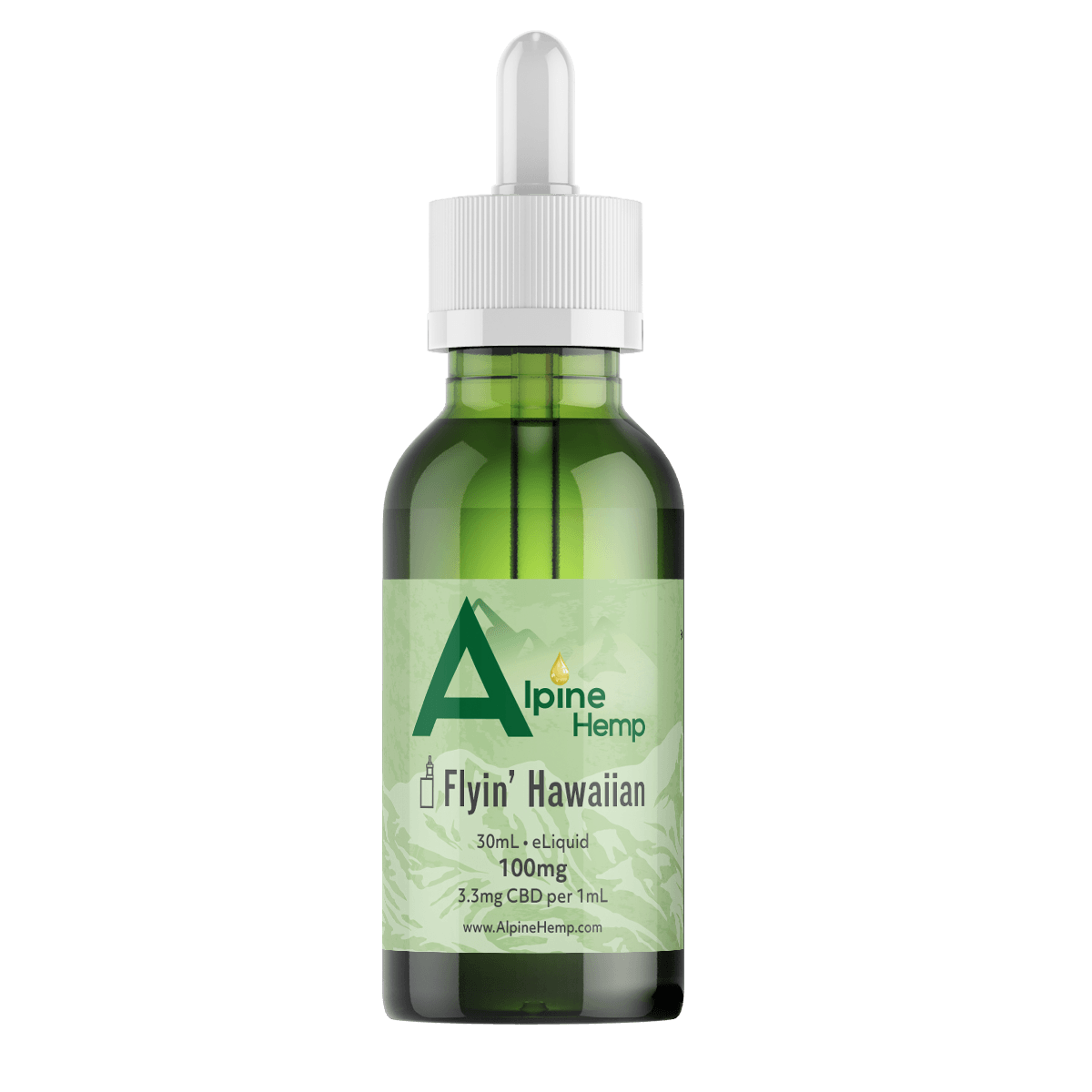 alpine hemp eliquid, vape refill, vape, hemp extract, vape juice, tropical vape