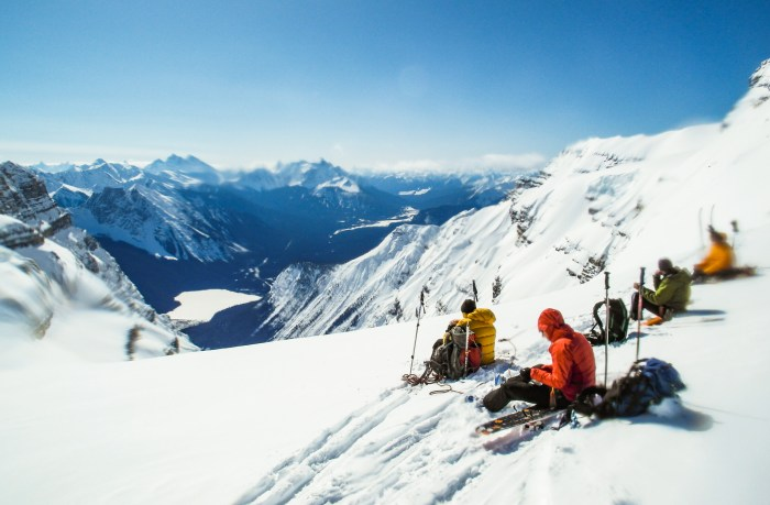 Canadian Rockies late season weather brings mild temperatures and perfect snow high in the alpine