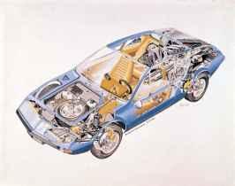 ALPINE a310 1600 ecorche : cutaway