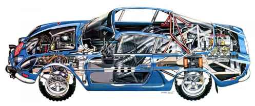 Alpine A110 Berlinette ecorche : cutaway - 4