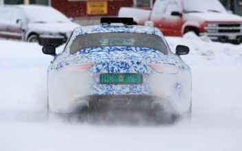Alpine sur les routes glacées