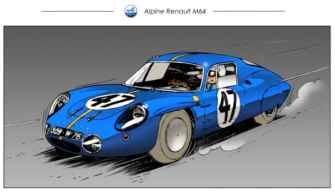 Chris Boyer portfolio Alpine A106 A110 A220 A310 GTA BD Dessin (1)
