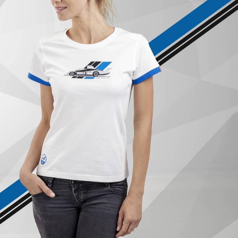 tee shirt femme blanc Alpine Collection 1978 boutique anniversaire 40 ans 24 heures du mans