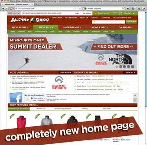 alpineshop.com new homepage