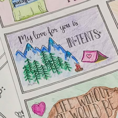 "My love for you is ""in-tents"""